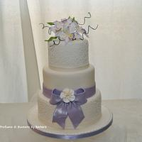 White Orchids and cornelli for wedding