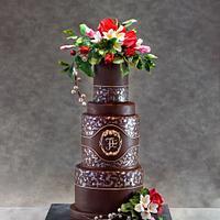 A chocolate cake