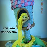Rapunzel Tangled cake by Hiyam Smady