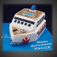Cruise Ship Retirement Cake by Slice of Sweet Art