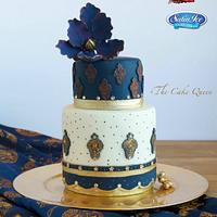 Blue Dark Indian fashion cake