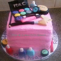MAC Makeup Birthday Cake