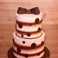 Stripes and Spots Baby Shower Cake