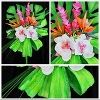 Wafer paper bouquet exotique