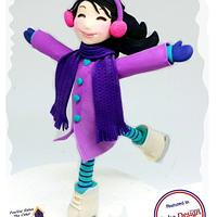 Violet Ice Skater From Frostington!