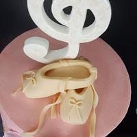 Ballet shoes cake topper