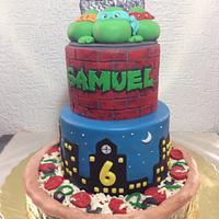 TNT -Turtle Ninja birthday cake