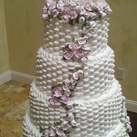 Basket Weave Wedding Cake