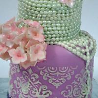 Pearls cake by Prachi Dhabaldeb
