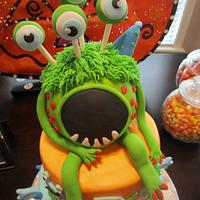 Monster party themed cake by Christie's Custom Creations(CCC)