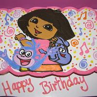Dora and Boots cupcake cake