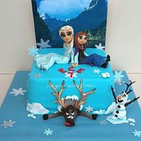 FROZEN cake by Mariya's Cakes & Art