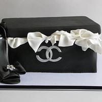My Coco Chanel shoe box cake!