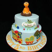 Dinosaur Train Cake for Riley