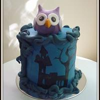 owl cake and owl cake pops by The cake shop at highland reserve