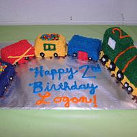 Train Birthday Cake!