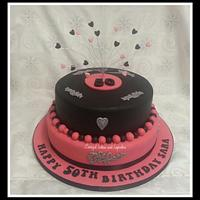 50th pink and black
