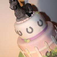 2 tier Pony cake