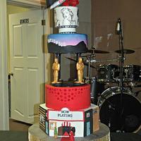 Old Hollywood sweet 16 cake