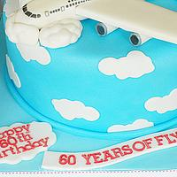 Plane on a cake by MicheleBakesCakes