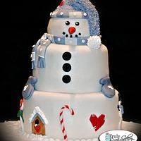 snowman cake by TrulyCustom