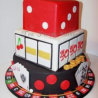 40th Birthday Casino Cake
