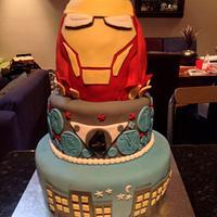 Iron Man 3-Tier Birthday Cake