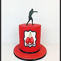 Boxing cake