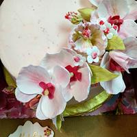 Strawberry Orchid Cake