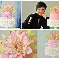 Me and my Wedding cake with dahlia:)