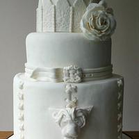 Gothic WHITE Wedding Cake