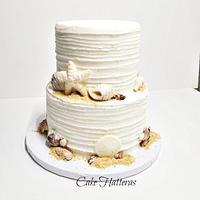 Small Beach Wedding Cake