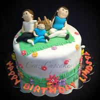 picnic in the park birthday cake