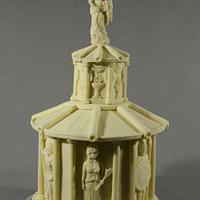 Roman God Temple Cake - a little secret inside