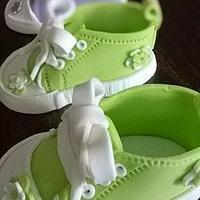 Little fondant children shoes