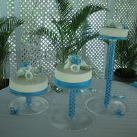 Samantha and Giovanni wedding cakes by Tamika