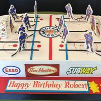 Table Hockey cake