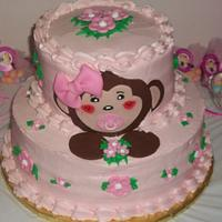 Girly Monkey Baby Shower