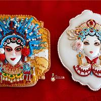 Music Around the World - Cake Notes - CHINESE OPERA COOKIES!