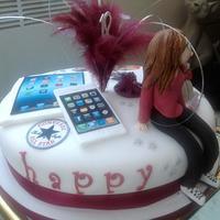 18th Birthday cake by Yvonne Beesley
