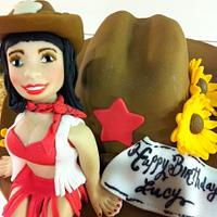 Pin-Up Cowgirl!  by Hot Mama's Cakes