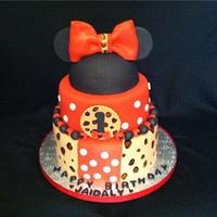 Minnie Mouse Leopard Print Cake by Nani's Cakes