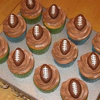 Football Cupcakes by Becky Pendergraft