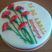 Carnation cake by Vera Santos