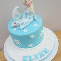 Frozen themed Elsa Cake