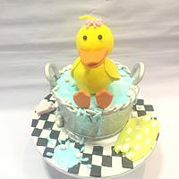 Bath ducky cake!