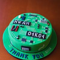 Motherboard cake