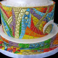 Mosaic cake /Inspired by Gaudi / by Marina Danovska