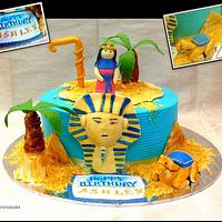 Egyptian theme cake
