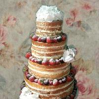 My first ever naked wedding cake!